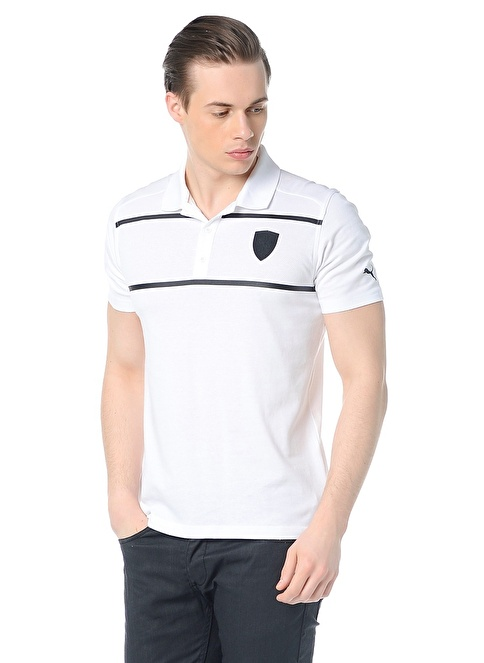 Puma Polo Yaka Tişört Beyaz
